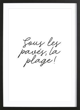 La Plage Framed Print