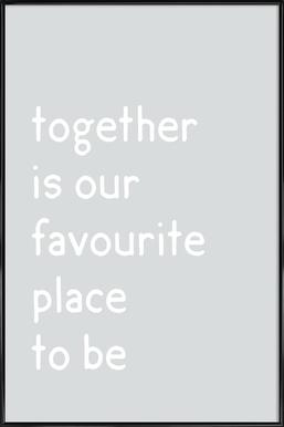 Together Framed Poster