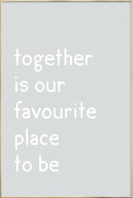Together -Poster im Alurahmen