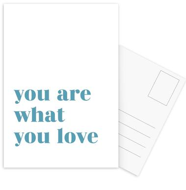 You Are What You Love Postcard Set