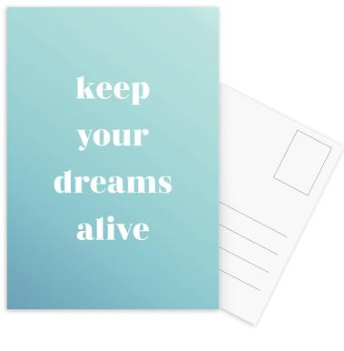 Keep Your Dreams Alive -Postkartenset