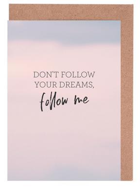 #Follow -Grußkarten-Set