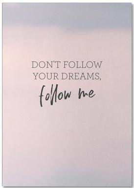 #Follow -Notizblock