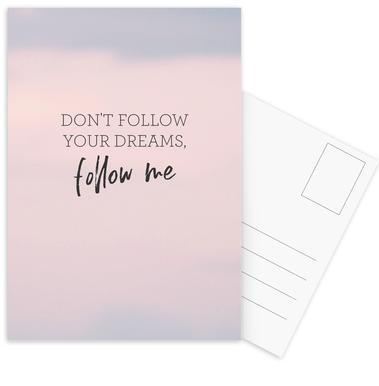 #Follow Postcard Set