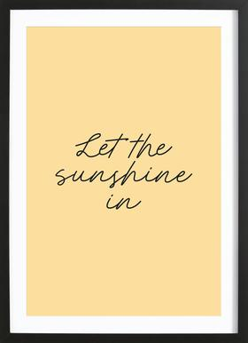 Let The Sunshine In Framed Print