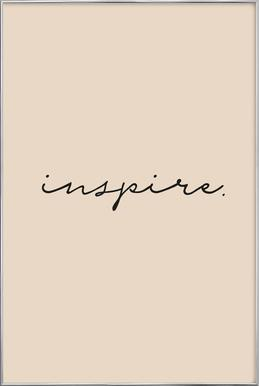 Inspire -Poster im Alurahmen