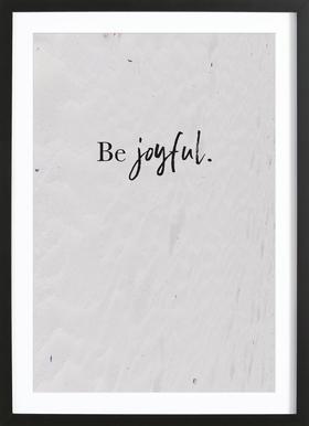 Be Joyful -Bild mit Holzrahmen