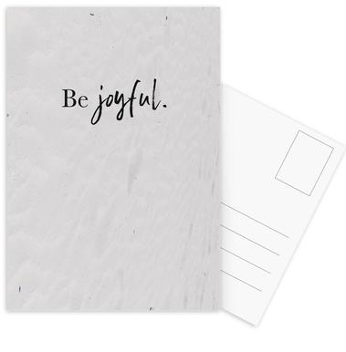 Be Joyful -Postkartenset