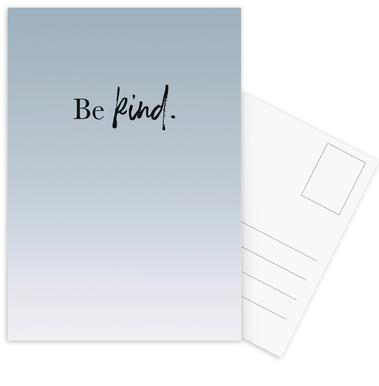 Be Kind -Postkartenset