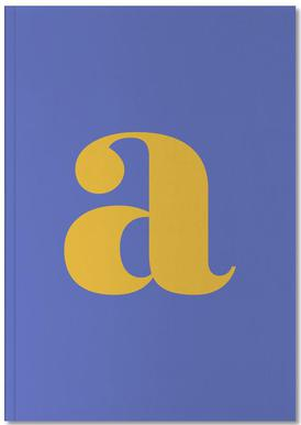 Blue Letter A Notebook