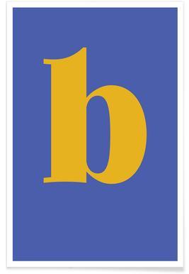 Blue Letter B -Poster
