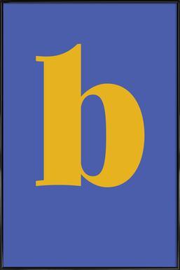 Blue Letter B -Bild mit Kunststoffrahmen