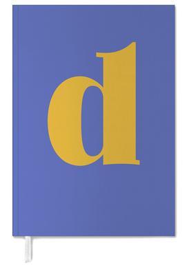 Blue Letter D Personal Planner
