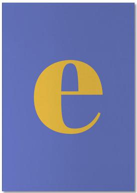 Blue Letter E -Notizblock