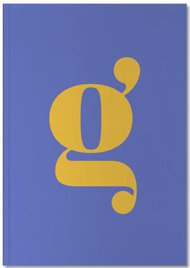 Blue Letter G Notebook