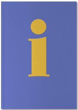 Blue Letter I Notebook
