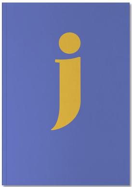 Blue Letter J Notebook