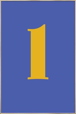 Blue Letter L -Poster im Alurahmen