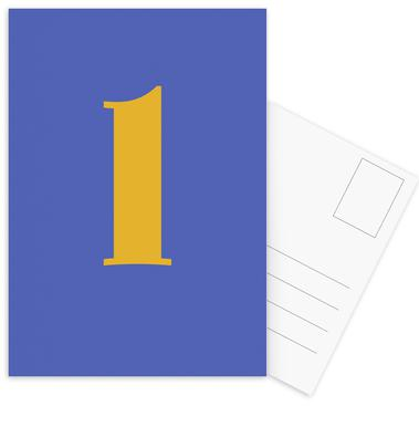 Blue Letter L -Postkartenset