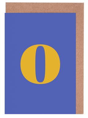 Blue Letter O -Grußkarten-Set