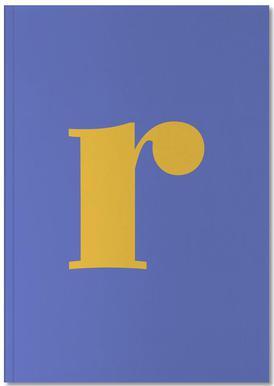 Blue Letter R -Notizheft
