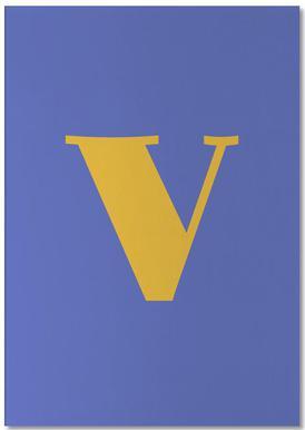 Blue Letter V -Notizblock