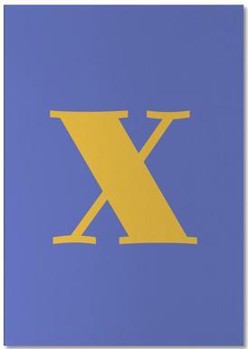 Blue Letter X -Notizblock
