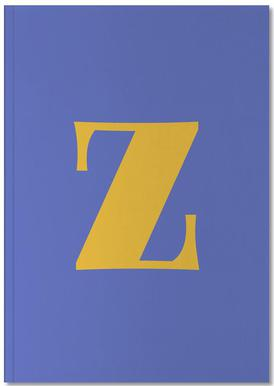 Blue Letter Z Notebook
