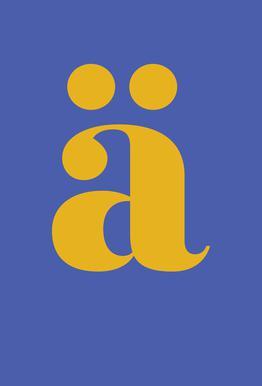 Blue Letter ä -Acrylglasbild