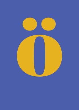 Blue Letter ö -Leinwandbild