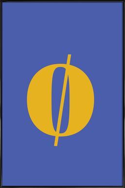 Blue Letter ø affiche encadrée