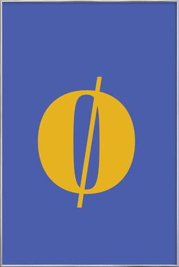 Blue Letter ø -Poster im Alurahmen