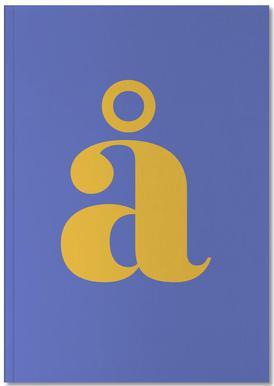 Blue Letter å Notebook