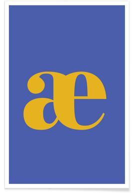 Blue Letter æ -Poster
