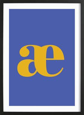 Blue Letter æ Framed Print