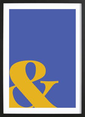 Blue Symbol & -Bild mit Holzrahmen