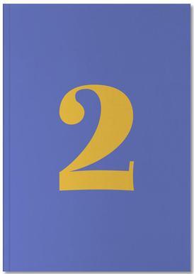 Blue Number 2 Notebook