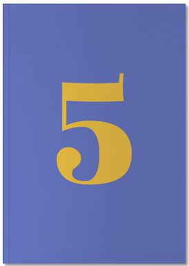 Blue Number 5 Notebook