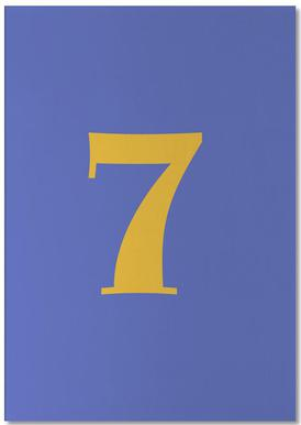 Blue Number 7 -Notizblock