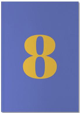Blue Number 8 Notebook