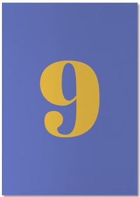 Blue Number 9 -Notizblock