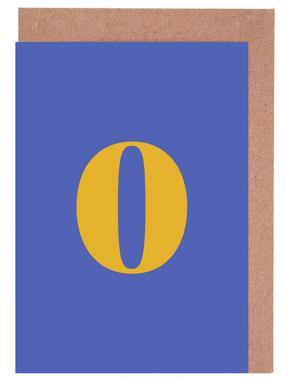 Blue Number 0 -Grußkarten-Set