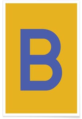 Yellow Letter B Poster