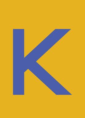 Yellow Letter K Canvas Print