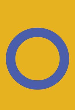 Yellow Letter O Aluminium Print