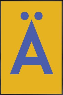 Yellow Letter Ä ingelijste poster