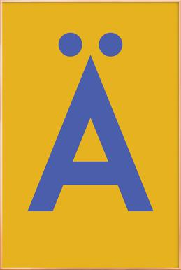 Yellow Letter Ä poster in aluminium lijst