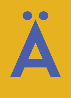 Yellow Letter Ä Canvas Print