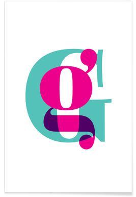 Magenta/Mint G poster