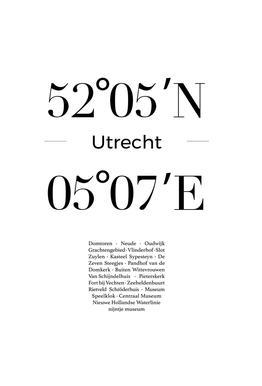 Utrecht acrylglas print